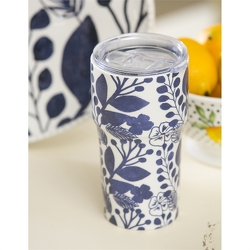 Blue & White Pattern Travel Cup from Twigs Flowers and Gifs in Yerington, NV