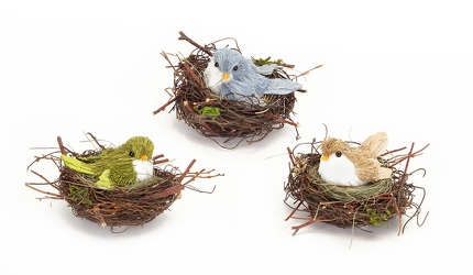 Trio of Nesting Birds from Twigs Flowers and Gifs in Yerington, NV