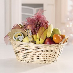 Fruit and Gourmet Basket from Twigs Flowers and Gifs in Yerington, NV