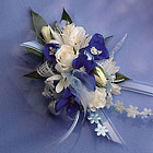 Blue and White  Corsage