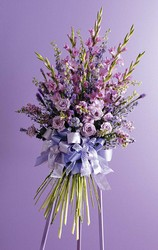 Lavender 'Hand-tied' Easel Spray from Twigs Flowers and Gifs in Yerington, NV