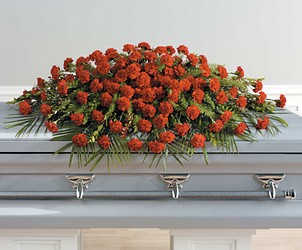 Red Carnation Casket Sprey from Twigs Flowers and Gifs in Yerington, NV