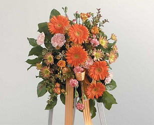 Orange Gerber  Easel Spray from Twigs Flowers and Gifs in Yerington, NV