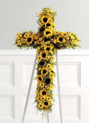 Yellow Sunflower Cross from Twigs Flowers and Gifs in Yerington, NV