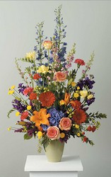 Primary color Urn Arrangement from Twigs Flowers and Gifs in Yerington, NV
