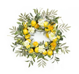 Lemon Fresh Wreath  from Twigs Flowers and Gifs in Yerington, NV
