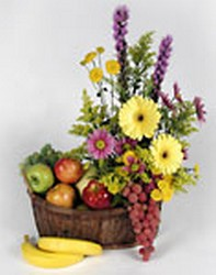 Flowers and Fruit Basket from Twigs Flowers and Gifs in Yerington, NV