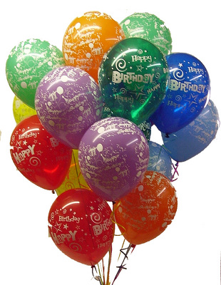 Printed Happy Birthday Balloons From Twigs Flowers And Gifs In Yerington NV Click Here For Larger Image